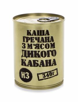 """Консервы мясорастительные """"Каша гречневая с мясом дикого кабана"""""""