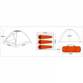 Палатка KingCamp Monodome 3