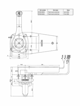 Пульт ДУ врезной для лодочного моторав Сузуки