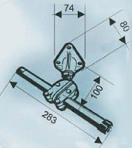 Струбцина для закріплення рульового тросу