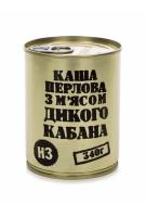 """Консервы мясорастительные """"Каша перловая с мясом дикого кабана"""""""